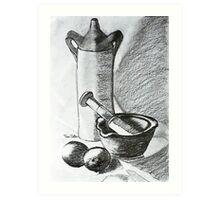 Mortar And Pestle Art Print