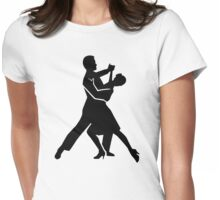Foxtrot dancing Womens Fitted T-Shirt