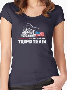 All Aboard the Trump Train! Women's Fitted Scoop T-Shirt