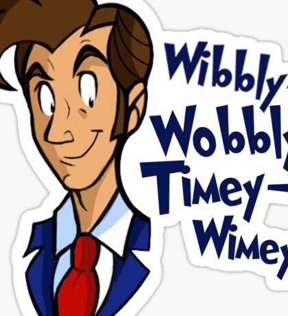 Dr. Seuss of Gallifrey: Wibbly-Wobbly Timey Wimey Sticker