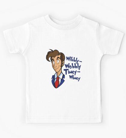 Dr. Seuss of Gallifrey: Wibbly-Wobbly Timey Wimey Kids Tee