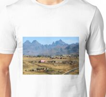 View from the road to Cathedral Peak Unisex T-Shirt