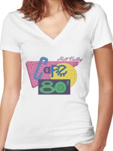 Cafe 80´s Women's Fitted V-Neck T-Shirt