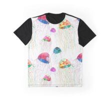 Seamless pattern with watercolor jellyfish Graphic T-Shirt