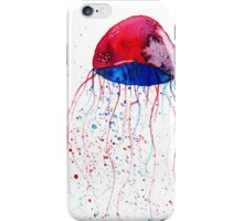 Hand painted watercolor jellyfish iPhone Case/Skin