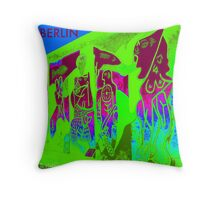 Wall in Berlin Throw Pillow