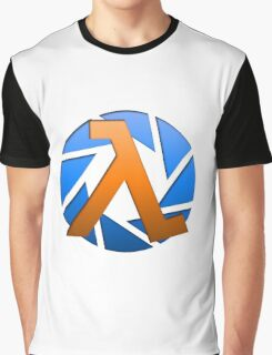 Aperture Meets Half-Life!  Graphic T-Shirt