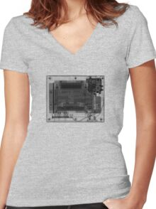 Nintendo Entertainment System (NES) - X-Ray Women's Fitted V-Neck T-Shirt