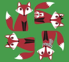 RED FOX PATTERN Kids Tee