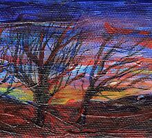Panoramic dusk by Regina Valluzzi