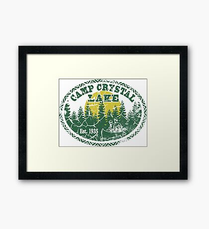 Camp Crystal Lake Retro Distressed Framed Print