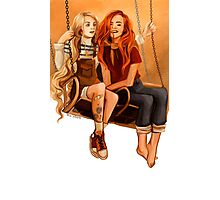 Luna Lovegood ang Ginny Weasley Photographic Print
