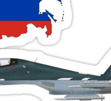 Sukhoi Su-30SM Flanker-C VKS Flag and Map Russian Sticker