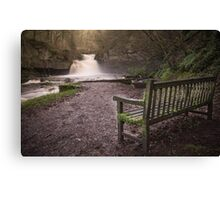 Waterfall, West Burton Canvas Print