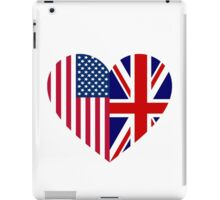 America Great Britain Flag Heart iPad Case/Skin