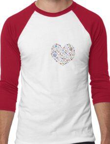 Heart from jewels Men's Baseball ¾ T-Shirt