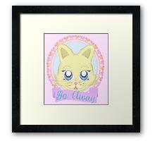 Cute Meanie cat Framed Print