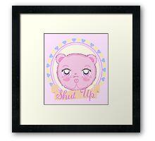 Cute Meanie teddy bear Framed Print