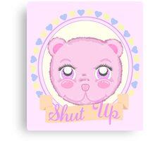 Cute Meanie teddy bear Canvas Print