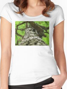 Taking Tree Climbing to the Next Level Women's Fitted Scoop T-Shirt