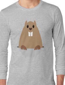 GROUNDHOG & SHADOW Long Sleeve T-Shirt