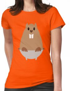 GROUNDHOG & SHADOW Womens Fitted T-Shirt