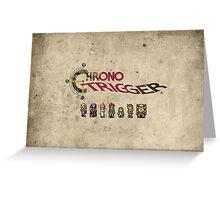 Chrono trigger - grunge background Greeting Card