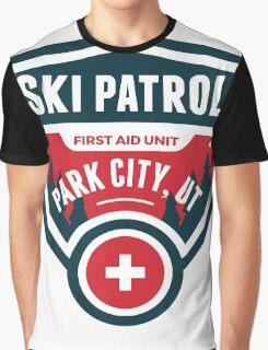 PARK CITY UTAH Skiing Ski Patrol Mountain Art Graphic T-Shirt
