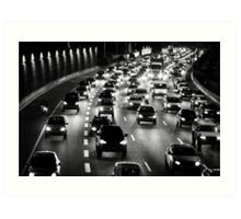 traffic at night Art Print
