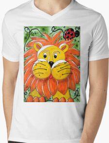 Mr Lion Mens V-Neck T-Shirt