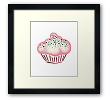 Pink Frosted Cupcake Framed Print