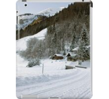 Cafe at Lake Montriond in winter iPad Case/Skin