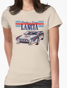lancia rally Womens Fitted T-Shirt