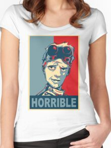 HORRIBLE PROPAGANDA Women's Fitted Scoop T-Shirt