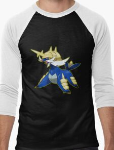 Blue Pokemon Men's Baseball ¾ T-Shirt
