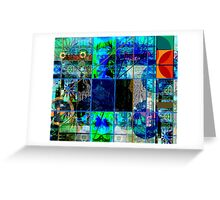 BLUE GENESIS 555 Greeting Card