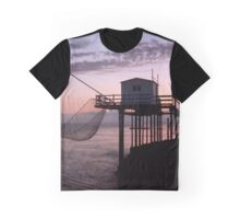 French fishing huts, Gironde. Graphic T-Shirt