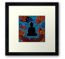 Buddha abstract art drawing crazy mind Framed Print