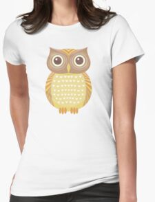 One Friendly Owl Womens Fitted T-Shirt
