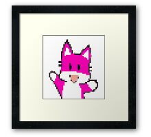 Pink Fox Framed Print