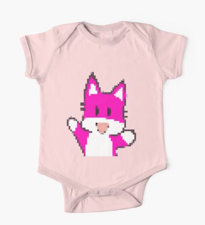 Pink Fox One Piece - Short Sleeve