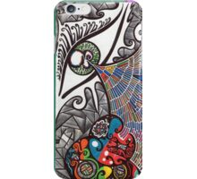 Eye abstract art drawing crazy mind iPhone Case/Skin