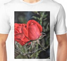 Red Rose HDR Unisex T-Shirt