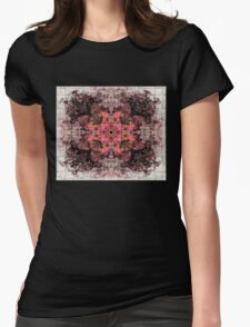 ROSE CROSS OF LIBERATION Womens Fitted T-Shirt