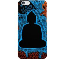 Buddha abstract art drawing crazy mind iPhone Case/Skin