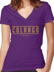 Colnago Vintage Bicycles Italy Women's Fitted V-Neck T-Shirt