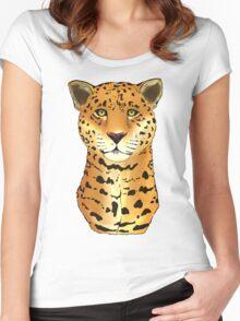 The Jaguar - Bust Women's Fitted Scoop T-Shirt