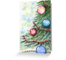 Christmas Scene No.2 - Watercolor  Greeting Card