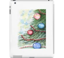 Christmas Scene No.2 - Watercolor  iPad Case/Skin