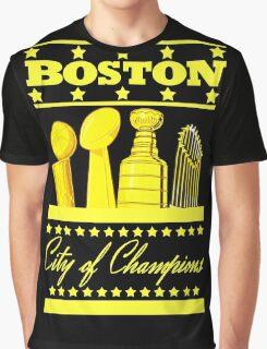 Boston - City of Champions (Gold) Graphic T-Shirt